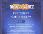 Certyfikat członkostwa ZMS