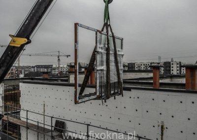 Montaż okien Vetrex (pomoc żurawia) Wrocław