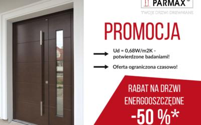 Promocja na drzwi energooszczędne Parmax